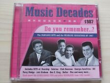 MUSIC DECADES 1987 CD, ORIGINAL VARIOUS ARTISTS, EXCELLENT CONDITION.