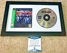 HIDEO KOJIMA SIGNED METAL GEAR SOLID BOOKLET COVER FRAMED GAME PLAYSTATION BAS