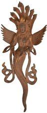 "Naga Kanya Snake God Wall Hanging 14""Vintage Brass Hindu Statue Figure Jai 1.7KG"