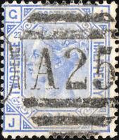 GB used in MALTA - 1876/9 - 2-1/2d blue plate 23 (JG) - SG Z40 - VFU