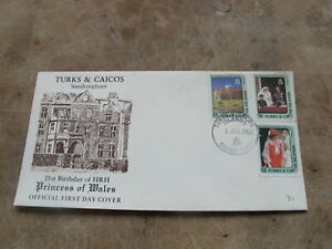 1982 First Day Cover / FDC- Turks & Caicos - Princess of Wales 21st Birthday -V2