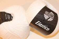 Wolltruhe! Lana Grossa Elastico Fb. 1 weiß 50g