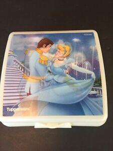Disney Tupperware Sandwich Keeper 3752  Cinderella Hologram NEW Lunch Box