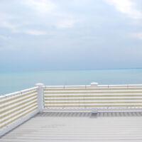 Custom 3 Feet Tall Beige/White Privacy Fence Deck Screen Home Balcony Yard Cover