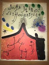 Joan Miró, Original Lithograph,1972  Mourlot, Cover