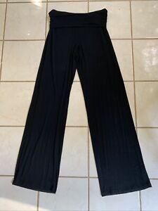 GAPBODY Pure Body Black Modal Jersey Foldover Waist Lounge Pants Sz XS