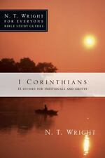 1 Corinthians N.T. Wright for Everyone Bible Study Guides *W