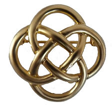 LADIES GOLD PLATED CELTIC KNOT BROOCH / SCARF PIN (8301)