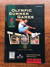 Olympic Summer Games Atlanta 96 1996 SNES Super Nintendo Instruction Manual Only