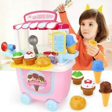 Ice Cream Toy Set Role Play Pretend Play Learning Toys for Kids Girls Best Gift