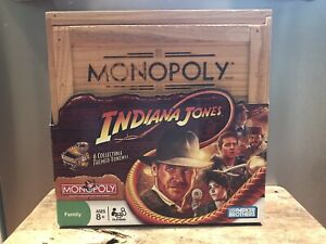 Monopoly Indiana Jones Wood Crate Edition 100% Complete🔥 Certificate 009181