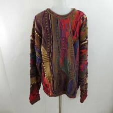Tundra Bachrach Sweater XLT XL Tall Red Brown Cosby Stripe Vintage 90s 80s