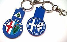 Portachiavi Alfa Romeo gomma 159 156 Giulia Giulietta Mito Quadrifoglio verde