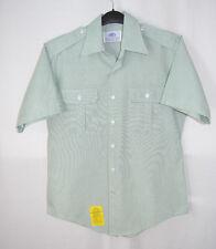 DSCP Garrison Collection Shirt SS Button Front Flap Pockets Green Men Size 16