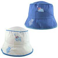 Glamour Girlz Baby Boys Girls Summer Holiday Cotton Bucket Floppy Sun Hat 2-5 Years Tartan Plaid Beige