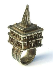 Antique Persian Islamic Ottoman Empire Prayer Scroll Silver Cage Ring - Lot 5