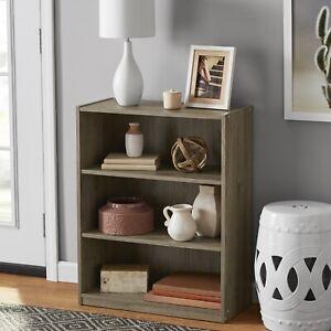 mainstays 31' 3 shelf bookcase rustic oak