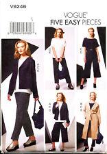 VOGUE SEWING PATTERN 9246 MISSES 16-26 JACKET, COAT, TOP & PANTS IN PLUS SIZES