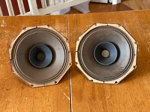 Vintage Matched pair Philips AD2700M 6 inch full range speakers Alnico
