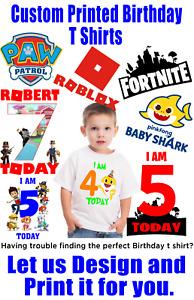 Custom Designed and Printed Childrens Birthday T Shirt