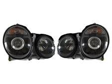 DEPO 00-02 Mercedes Benz W210 E Class Projector Black Housing Headlight Pair DOT