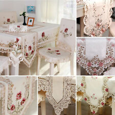 lace table runner embroidered floral lace fabric translucent gauze table cloth