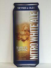 "Samuel Sam Adams Beer Tin Tacker Sign Nitro White Ale Can NEW F/S 15.5"" X 6.25"""