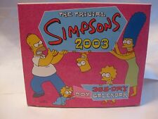 The Classic Trivial Simpsons 2003 Box Calendar From Harper Entertainment   gm211