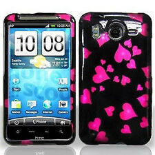 For HTC Inspire 4G Protector Hard Case Snap on Phone Cover Raining Hearts