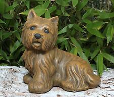 sculpture en pierre Westi chien Figure de jardin Animal Fonte résistant au gel