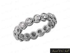 Natural 1.00Ct Round Diamond Gallery Eternity Band Ring 950 Platinum G SI1 Bezel