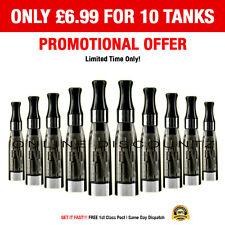 10 x Black CE4 Atomizer Vape Refill Tank for E Liquid Cigarette Oil Shisha Juice