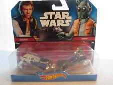 Hot Wheels Star Wars Character Car Han Solo & Greedo 2 Pack DJM03 RARE fast ship