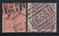 Großbritannien 1865 Mi. 24-25 Gestempelt 60% 4 Pence, 6 S.