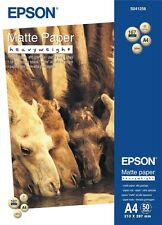Epson (A4) 167g/m2 Heavy Weight Matte Paper (White) 1 Pack of 50 Sheets