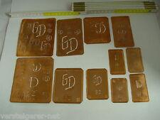 11 x GD Merkenthaler Monogramme, Kupfer Schablonen, Stencils, Patrons broder