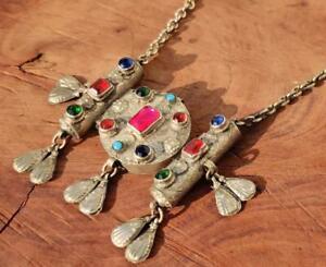 Vintage Boho Kuchi Banjara Tribal Afghan Rare Handmade Gypsy Chain Necklace