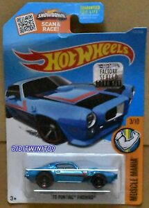 HOT WHEELS 2016 MUSCLE MANIA '73 PONTIAC FIREBIRD BENT CARD FACTORY SEALED W+