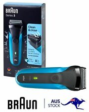 Braun - Series 3 Wet & Dry Electric Shaver 310s rechargeable waterproof blue