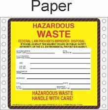 Hazardous Waste Paper Labels HWL500 PAPER (PACK OF 500)