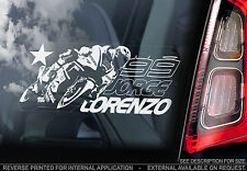 Jorge Lorenzo #99 - Moto GP Car Window Sticker - Yamaha Superbike MotoGP - TYP1