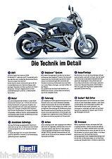 Buell tecnología en detalle folleto 1999 brochure motocicleta folleto broschyr moto