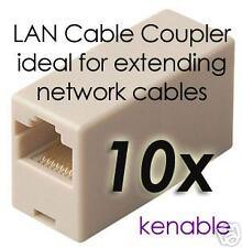 10 x RJ45 LAN Straight Coupler/Network Cable Joiner
