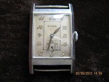 SALE! Beautiful huge Cyma Stayte rectangular wristwatch from 30y/XXc,42,3/25,6mm