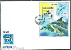 GUINEA BISSAU 2013 DOLPHINS SOUVENIR SHEET FIRST DAY COVER