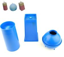Candle Mould Set of 3, 1 Pillar, 1 Sphere & 1 Rectangular Square Tapered S7508