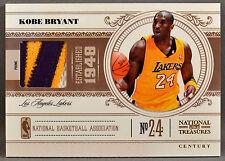 10-11 Panini National Treasures Kobe Bryant NBA JERSEY PATCH #14/25 2010 2011