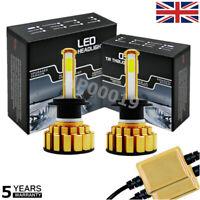 H7 LED Car Headlight 90W 12800LM Canbus error free KIT 6500K Fog Bulbs White