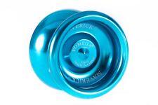 Yomega Maverick Aqua Blue Yo Yo  + 3 FREE NEON STRING YELL/ORG/GREEN Brand New
