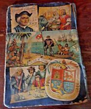 Vtg.Kubasta Pop-up 3-D SCENE BOOK Admiral Don Christopher Columbus A.D.12.X.1492